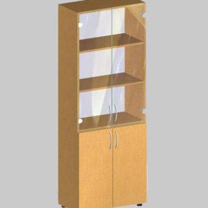 Стеллаж для документов со стеклом БЮ 407