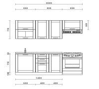 кухня адель дуб венге 1