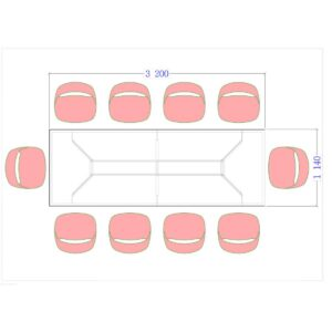Конференц стол Статик 3200 размер