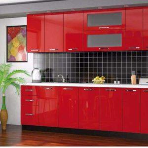 Кухня-Гамма-красная